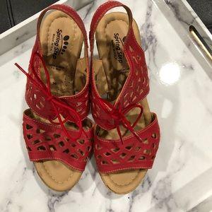 Spring Step red sandal